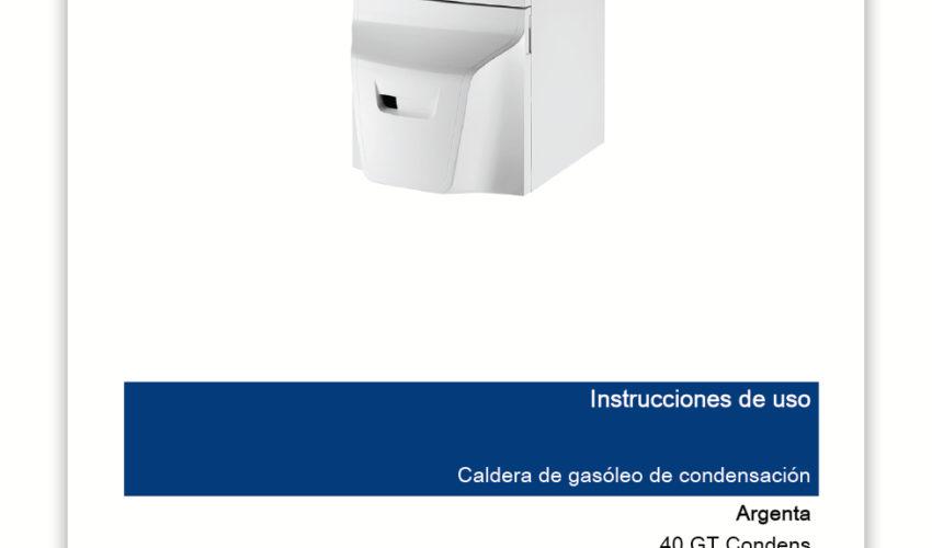 Manual Usuario ARGENTA GT Condens 40 y 50