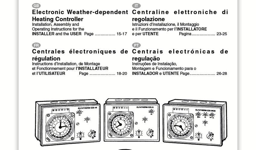 Manual Usuario ELFATHERM E25
